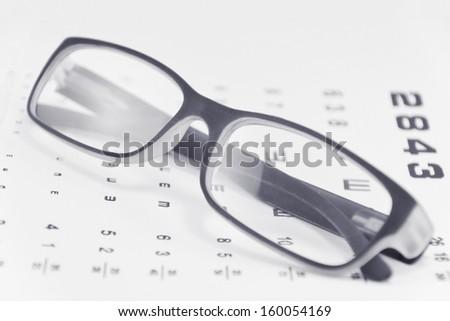 image of eyeglasses on white background - stock photo