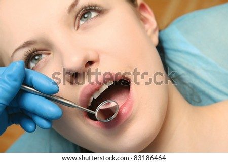 Image of female patient. - stock photo