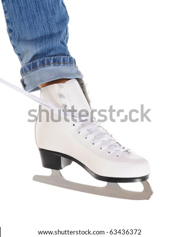 image of figure skate. Isolated on white background