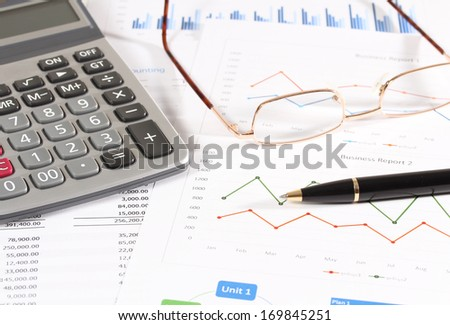 image of financial report and graphics for business