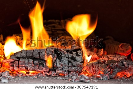 image of fire inside of wood hoven