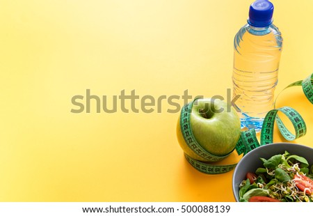 image of fitness theme, healthy food