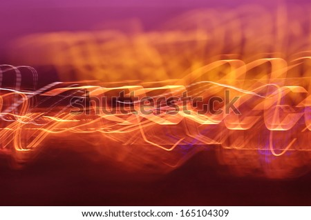 Image of flames and light strokes arranged in expressive composition - stock photo