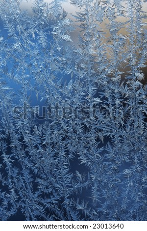 Image of frost patterns on glass
