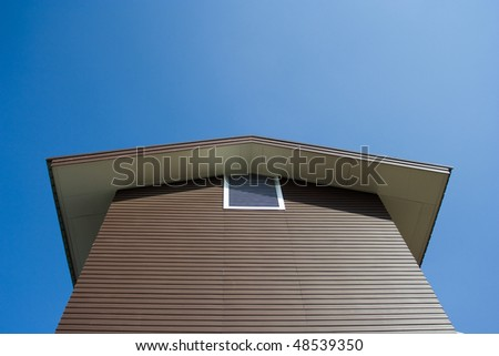 Image of gable of a house - stock photo