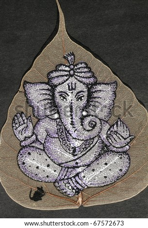 image of Ganesha deity who is widely worshiped across India as the remover of obstacles - stock photo