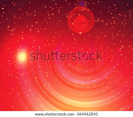 Image of glowing galaxy against black space and stars - stock photo