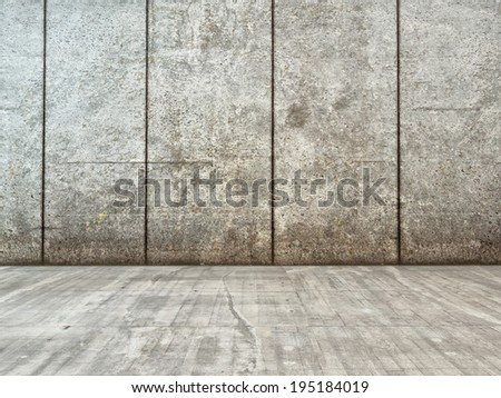 Image of grunge decor interior with concrete wall