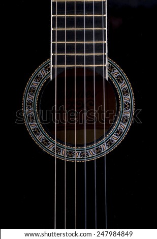 Image of guitar close up. - stock photo