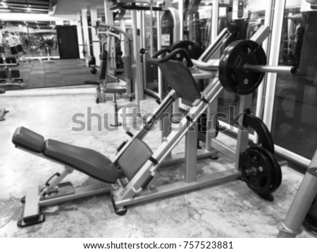 Image of gym with black and white, Thailand.