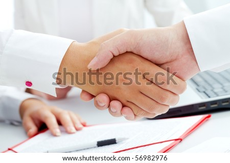 Image of handshaking of business partners
