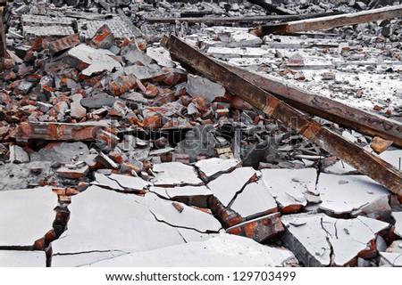 image of house destruction background - stock photo