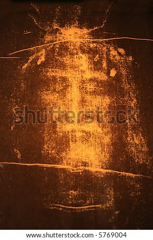 Image of Jesus From the Shroud of Turin. - stock photo