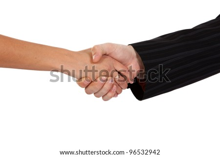 Image of male and female hands shaking