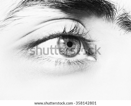 Image of man's brown eye close up.