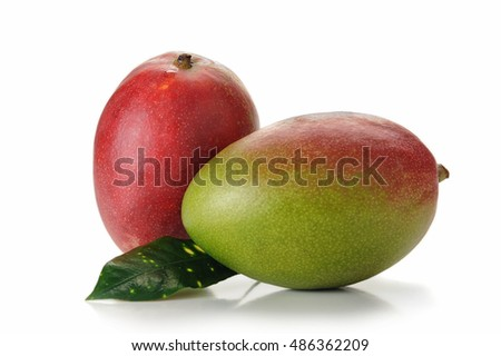 Image of mango fruit studio isolated on white background