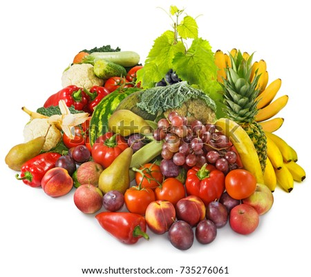 image of many fruits and vegetables close up