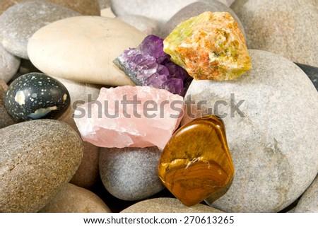 image of many stones closeup - stock photo