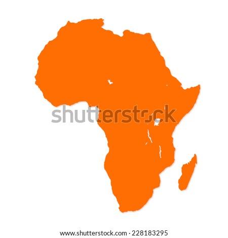 Image of modern Africa map illustration - stock photo