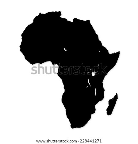 Image of modern Africa map illustration - stock photo