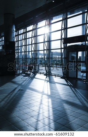image of mordern Railway Shipping Station - stock photo