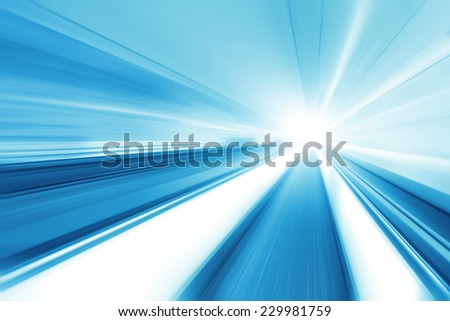 Image of moving walkway in modern building. - stock photo