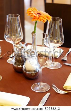Image of nice table setting - stock photo