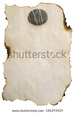 image of old burnt paper for background - stock photo