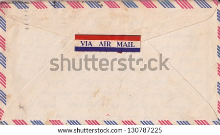 Image of old envelope - stock photo