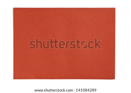 Image of orange paper against white background