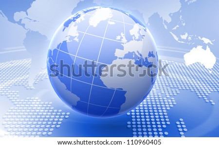 Image of our planet as symbol of social networking - stock photo