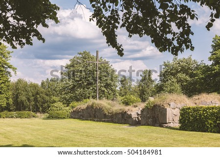 Image of Ovraby church ruin outside Halmstad, Sweden.