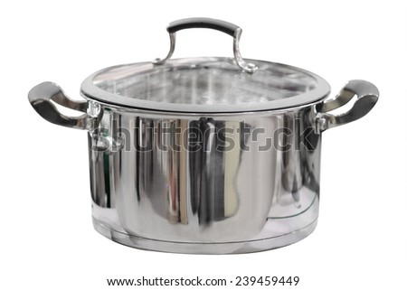 image of pan under the white background