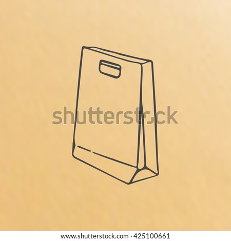 image of paper bag, scetch packing