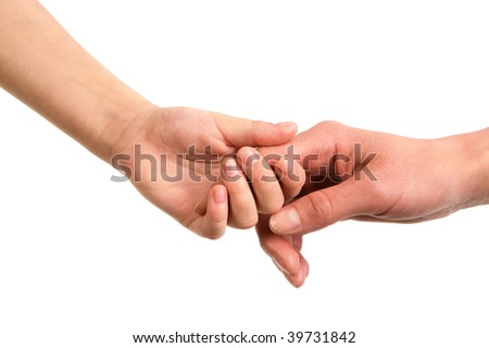 Image of parent?s hand holding the one of the child