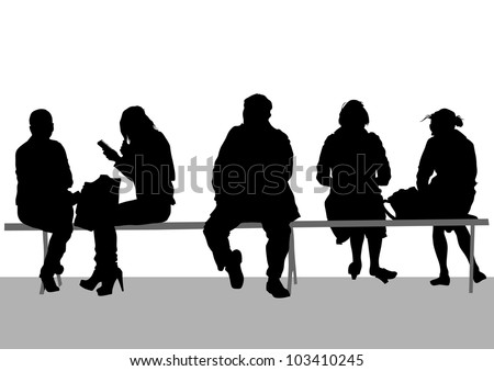 image of people on bench