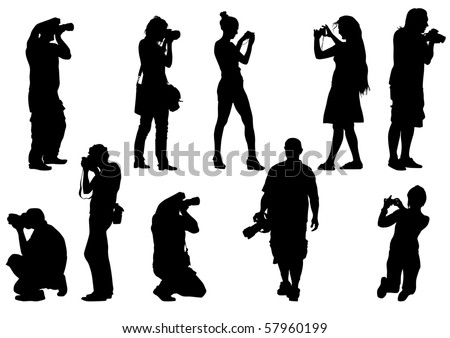 image of people with cameras for a walk