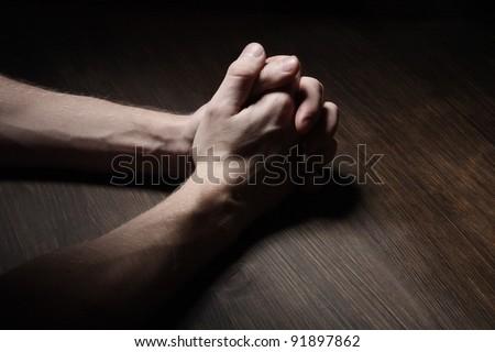 Image of praying hands - stock photo