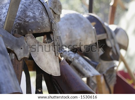 Image of protective medieval armour hanging up