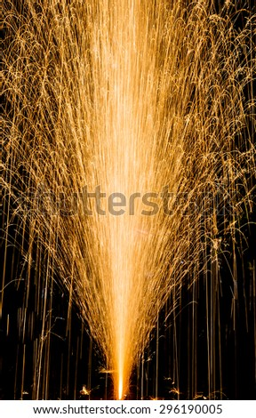 image of raise up fireworks on ground . - stock photo