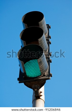 image of Red color on the traffic light - stock photo