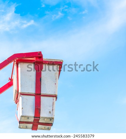 image of  rescue basket and blue sky background . - stock photo