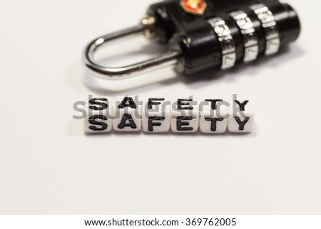 Image of SAFETY, with the lock