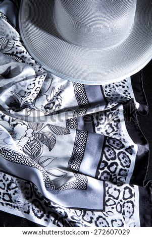 Image of sarong and a hat - stock photo