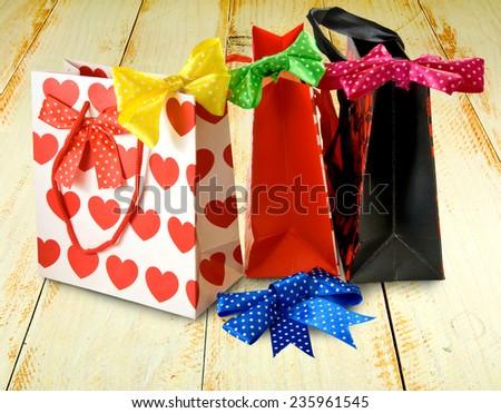 image of shopping bag closeup - stock photo