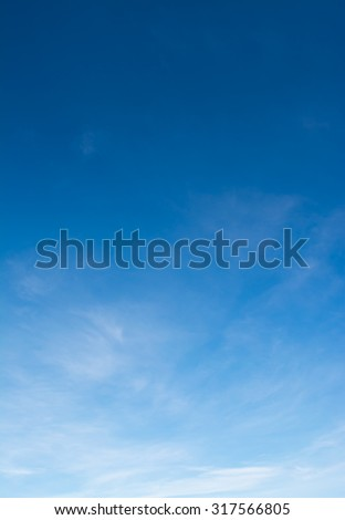 image of sky on day time for background usage(vertical). - stock photo
