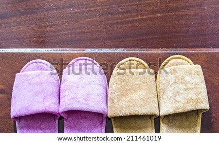 Image of slippers  - stock photo