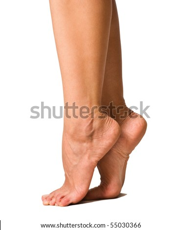 image of smooth and beautiful female legs