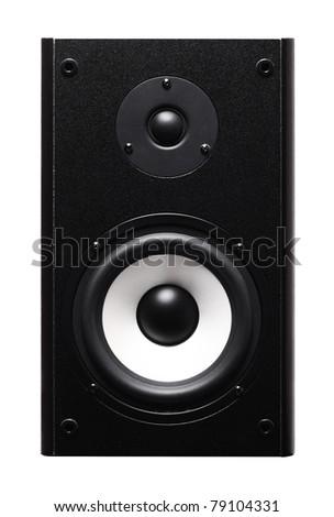 Image of speaker isolated over white background - stock photo