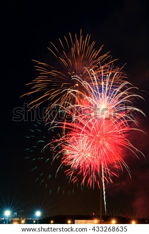 Image of Spectacular fireworks celebration show